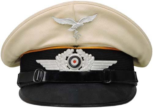 f38eb9a4c17 L000881 FLIGHT EM NCO S WHITE TOP VISOR CAP.